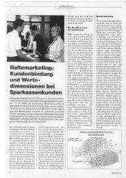 Haltemarketing: Kundenbindung und Wertedimensionen bei ...