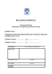 Contrast Induced Nephropathy (CIN) - Beaumont Hospital