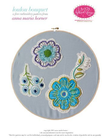 Loulou Bouquet Embroidery Pattern - Anna Maria Horner