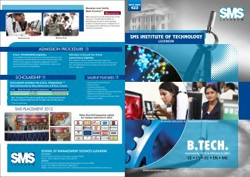 B. Tech Brochure - SMS Lucknow
