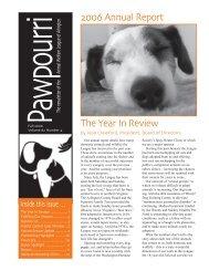 Fall 2006 (Annual Report) - Animal Welfare League of Arlington