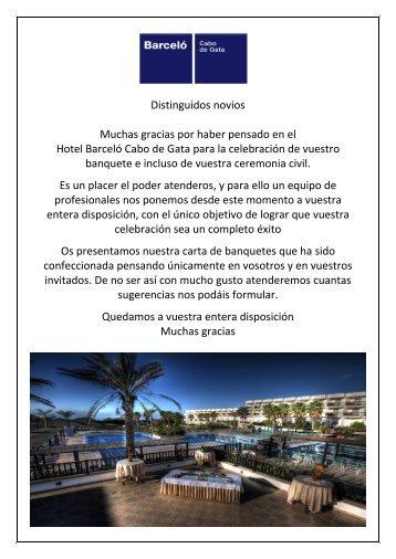menús de bodas - Barcelo.com