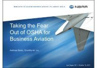 Taking the Fear Out of OSHA for Business Aviation - NBAA