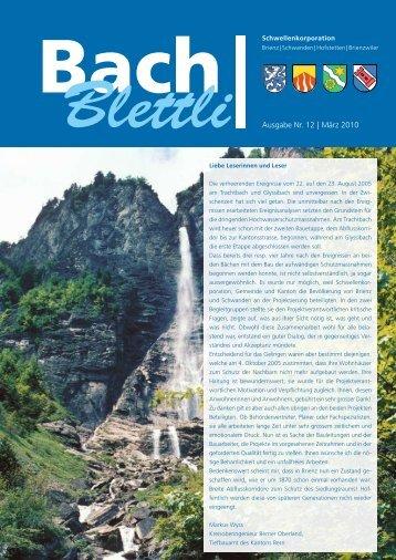 Ausgabe Nr. 12 | März 2010 - schwellenkorporationen.ch