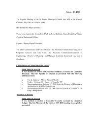 Council Minutes Monday, October 20, 2008 - City of St. John's