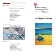 Einladung zur Ausstellung - Henriettenstiftung Hannover