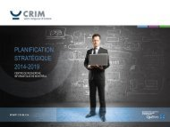 Plan stratégique quinquennal (2014-2019) - CRIM