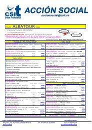 Viajes Albatour 2000 Ofertas - CSIT Unión Profesional