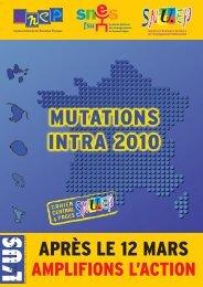 P 01 Mut INTRA 2010 - Le Snuep