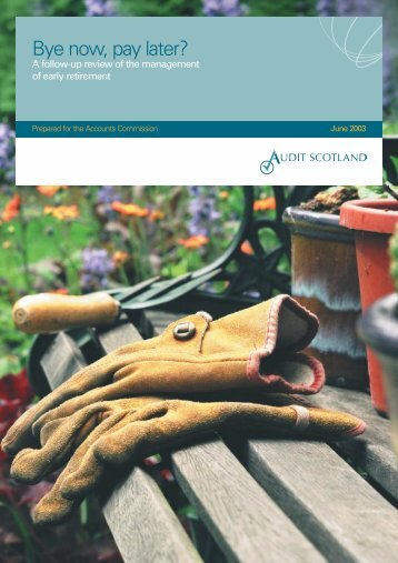 Bye now, pay later follow up - Audit Scotland