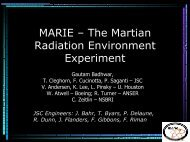 MARIE – The Martian Radiation Environment Experiment - Wrmiss.org