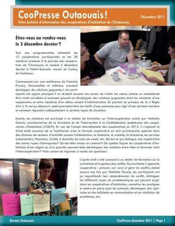 CooPresse Outaouais! Décembre 2011