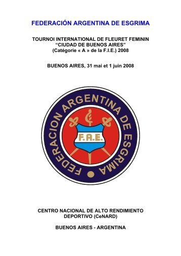 CIUDAD DE BUENOS AIRES - Federación Argentina de Esgrima