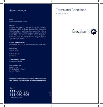 Terms and Conditions - Faysal Bank