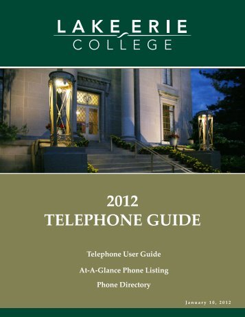 2012 telephone guide - Lake Erie College