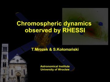 Chromospheric dynamics observed by RHESSI