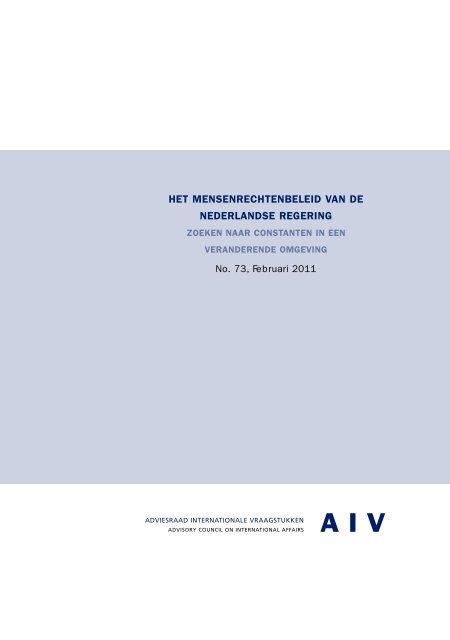 Nederlands - Adviesraad Internationale Vraagstukken