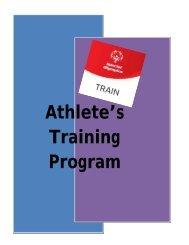 Athlete's Training Program