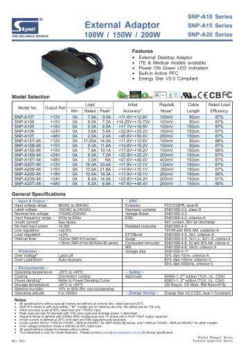 External Adaptor 100W / 150W / 200W