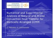 Numerical and Experimental Analysis of Natural ... - COMSOL.com