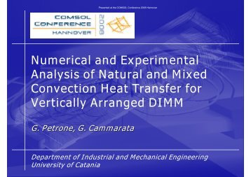 Experimental and Numerical Investigation of Heat Transfer