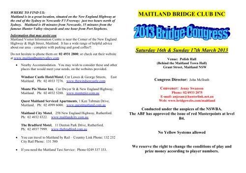 Maitland Bridge Club Inc