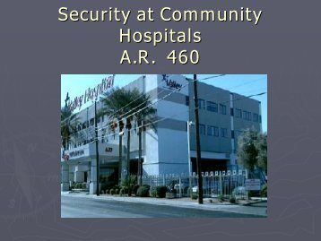 Security at Community Hospitals - Nevada Department of Corrections