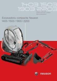 Excavadora compacta Neuson 1403 /1503 /1903 / 2203