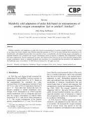 Metabolic cold adaptation of polar fish based on measurements of ...