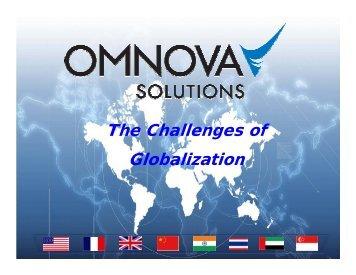 The Challenges of Globalization, Robin McCann, OMNOVA
