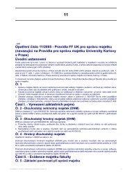 Opatření číslo 11/2005 - Pravidla FF UK pro ... - Filozofická fakulta