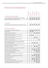 Kriterien Schweizer Hotelklassifikation - GastroProfessional