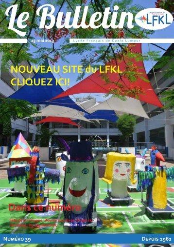 Bulletin du 23/05/13 - Lycée Français Kuala Lumpur