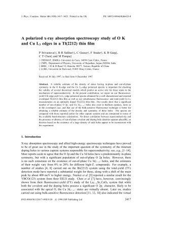 A polarized x-ray absorption spectroscopy study of O K and Cu L3 ...