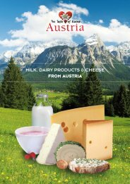MILK, Dairy Products & CHEESE FROM AUSTRIA