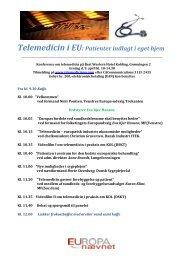 Telemedicin i EU: Patienter indlagt i eget hjem