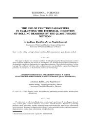 the use of friction parameters in evaluating the technical condition of ...