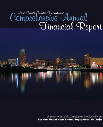 Comprehensive Annual Financial Report - Long Beach Water ...