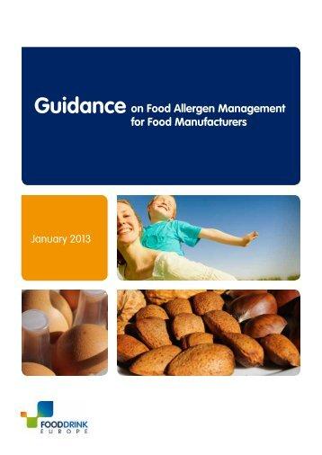 Guidance on Food Allergen Management for ... - FoodDrinkEurope
