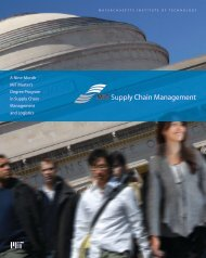 MIT Supply Chain Management - Singapore University of ...