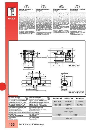 136 D.V.P. Vacuum Technology E GB D I MA.30P