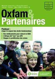 Plaidoyer : - Oxfam-Solidariteit