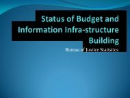 Status of Budget and Information Infra-structure Building - SEARCH ...