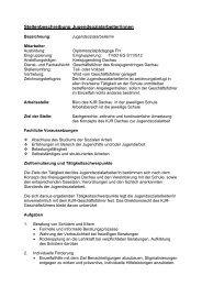 Stellenbeschreibung Jugendsozialarbeiter/innen - Kreisjugendring ...