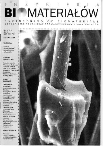 5-6 - Polskie Stowarzyszenie Biomateriałów