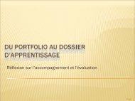 Du portfolio au dossier d'apprentissage - le portfolio