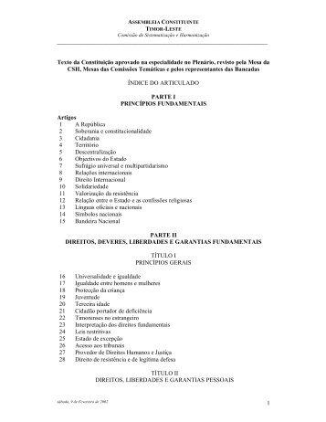 1 Texto da Constituição aprovado na especialidade no Pl