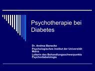 Psychotherapie bei Diabetes Mellitus