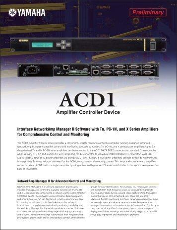 ACD1 Brochure 373.46KB - Yamaha Commercial Audio