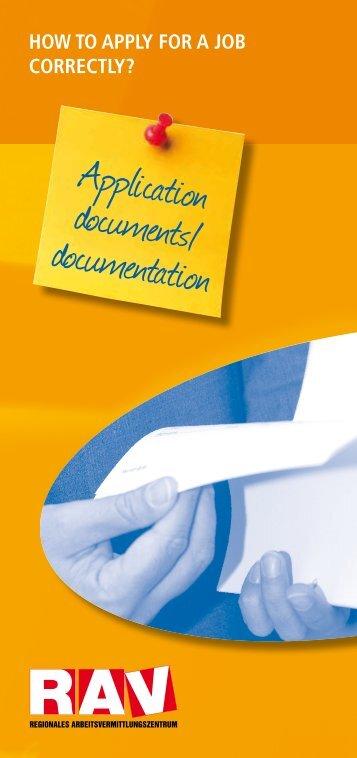 Application documents/ documentation - eures